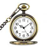 BestFire Pocket Watch Vintage Quartz Pocket Watch Classical Sculptured Fob Pocket Watch with Short Chain for Men Women… 17
