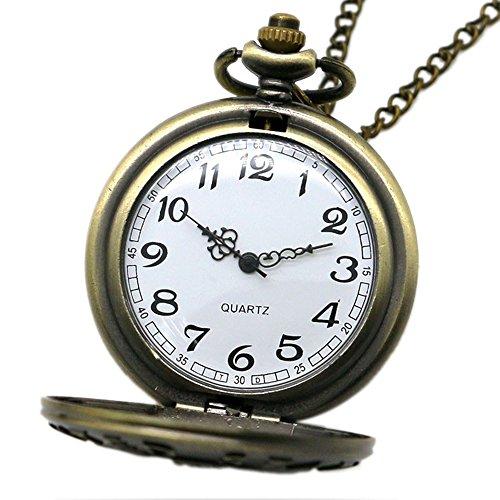 BestFire Pocket Watch Vintage Quartz Pocket Watch Classical Sculptured Fob Pocket Watch with Short Chain for Men Women… 7