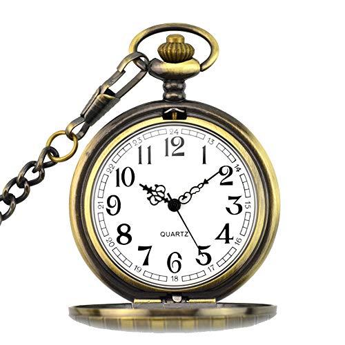 BestFire Pocket Watch Vintage Quartz Pocket Watch Classical Sculptured Fob Pocket Watch with Short Chain for Men Women… 1