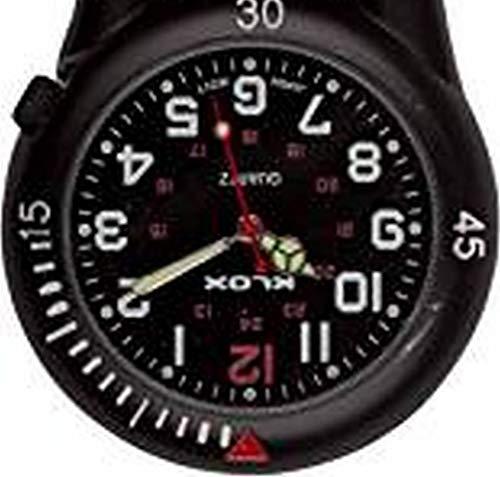 Black Clip on Carabiner Belt FOB Watch for Doctors Nurses Paramedics Chefs 3