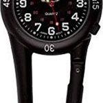 Black Clip on Carabiner Belt FOB Watch for Doctors Nurses Paramedics Chefs 13