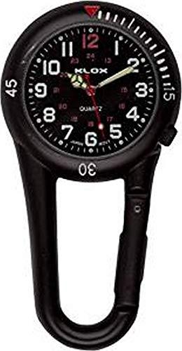 Black Clip on Carabiner Belt FOB Watch for Doctors Nurses Paramedics Chefs 4
