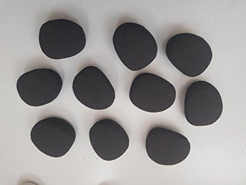 Black Replacement Gas Fire/Bio Fuel Ceramic Pebbles 10/20/30 (10) 4