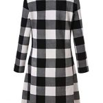 Blooming Jelly Ladies Plaid Dress Long Sleeve Swing Jumper Winter T Shirt Dresses for Women 20