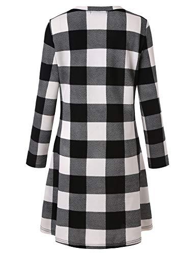 Blooming Jelly Ladies Plaid Dress Long Sleeve Swing Jumper Winter T Shirt Dresses for Women 5