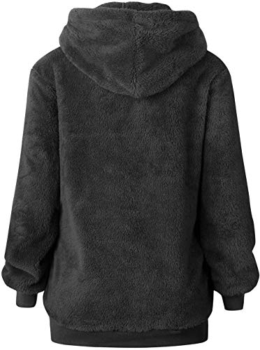 Bwiv Women's Baggy Fluffy Pullover Hoodie with 1/4 Zipper and Drawstring for Winter Ladies Long Sleeves Sweatshirt Soft… 5
