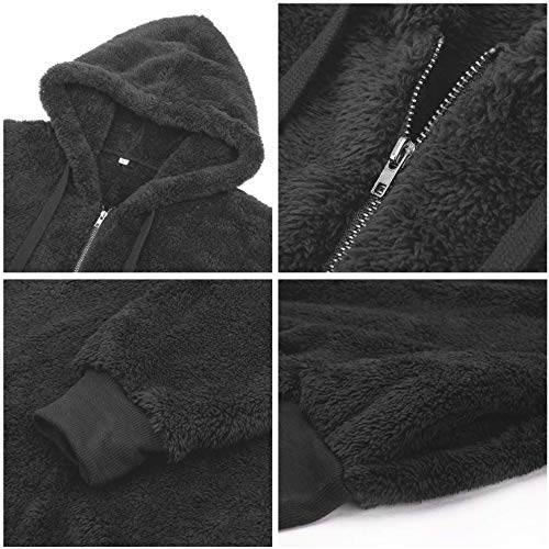 Bwiv Women's Baggy Fluffy Pullover Hoodie with 1/4 Zipper and Drawstring for Winter Ladies Long Sleeves Sweatshirt Soft… 7
