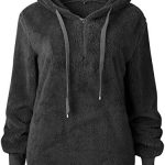 Bwiv Women's Baggy Fluffy Pullover Hoodie with 1/4 Zipper and Drawstring for Winter Ladies Long Sleeves Sweatshirt Soft… 23