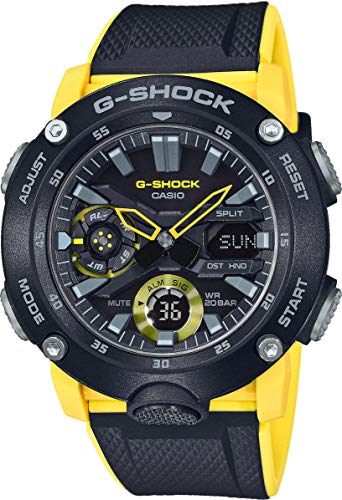 CASIO Mens Analogue-Digital Quartz Watch with Resin Strap GA-2000-1A9ER 1