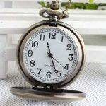 CY-Buity Cristoferv Pocket Watch Skull Head Cool Unique Vintage Antique Pendant Round Shape Tools*1 8