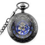 CY-Buity Cristoferv Pocket Watch Skull Head Cool Unique Vintage Antique Pendant Round Shape Tools*1 15