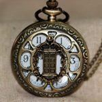CY-Buity Cristoferv Pocket Watch Skull Head Cool Unique Vintage Antique Pendant Round Shape Tools*1 14