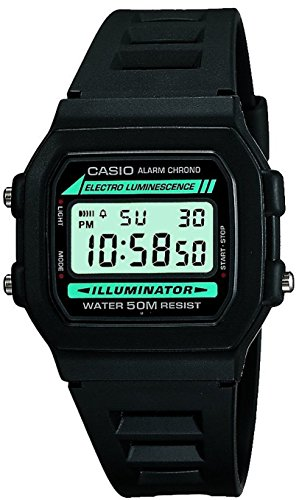 Casio Classic Men's Watch in Resin/Stainless Steel with Daily Alarm and Automatic Calendar - Water Resistant 2