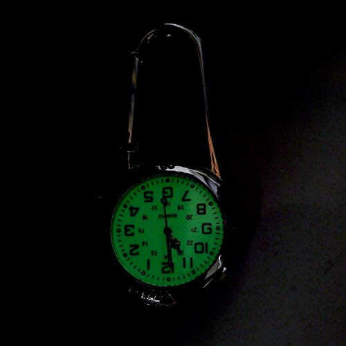 Clip On Outdoor Hook Watches Quartz Clip Carabiner Watches Come with Extra Battery 3