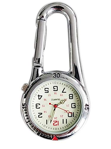 Clip On Outdoor Hook Watches Quartz Clip Carabiner Watches Come with Extra Battery 4