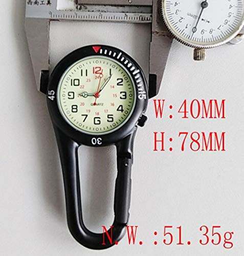 Clip On Outdoor Hook Watches Quartz Clip Carabiner Watches Come with Extra Battery 6