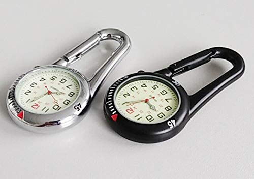 Clip On Outdoor Hook Watches Quartz Clip Carabiner Watches Come with Extra Battery 7