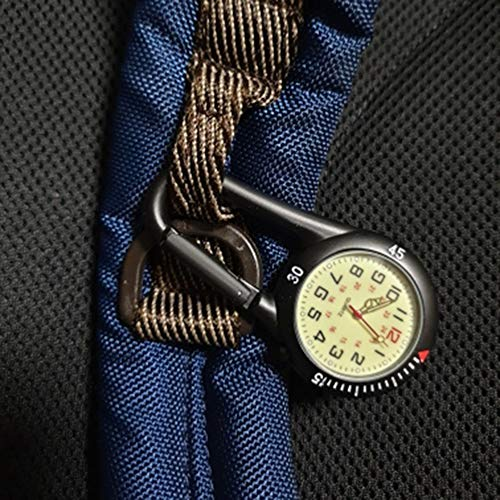 Clip On Outdoor Hook Watches Quartz Clip Carabiner Watches Come with Extra Battery 8