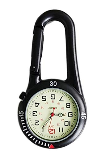 Clip On Outdoor Hook Watches Quartz Clip Carabiner Watches Come with Extra Battery 1