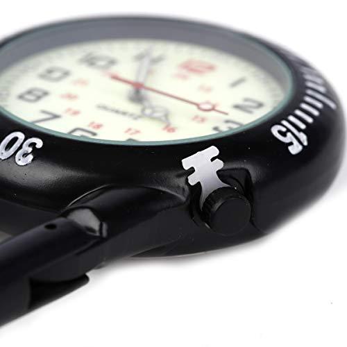 Clip on Carabiner Luminous Face FOB Watch Digital for Doctors Nurses Paramedics Chefs Sport Unisex Men Women 4
