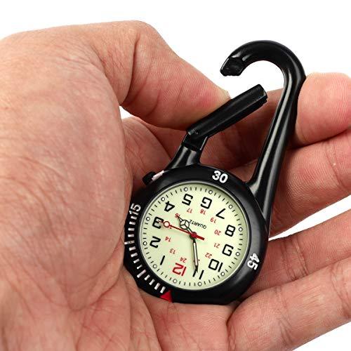 Clip on Carabiner Luminous Face FOB Watch Digital for Doctors Nurses Paramedics Chefs Sport Unisex Men Women 5