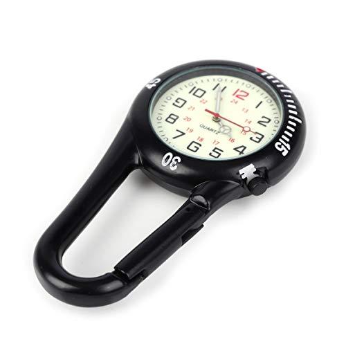Clip on Carabiner Luminous Face FOB Watch Digital for Doctors Nurses Paramedics Chefs Sport Unisex Men Women 8