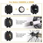 CooSpo Cadence/Speed Sensor with Bluetooth & ANT+, Dynamic-tracking Cadence Sensor for GPS bike computers Sport Watches… 17