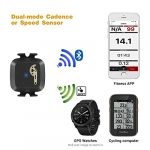 CooSpo Cadence/Speed Sensor with Bluetooth & ANT+, Dynamic-tracking Cadence Sensor for GPS bike computers Sport Watches… 19