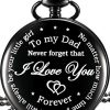 Dad Gift from Daughter to Father Engraved Pocket Watch - No Matter How Much Time Passes, I Will Always Be Your Little… 9