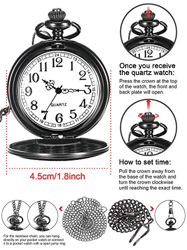 Dad Gift from Daughter to Father Engraved Pocket Watch - No Matter How Much Time Passes, I Will Always Be Your Little… 7