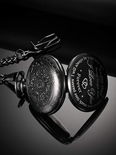Dad Gift from Daughter to Father Engraved Pocket Watch - No Matter How Much Time Passes, I Will Always Be Your Little… 8
