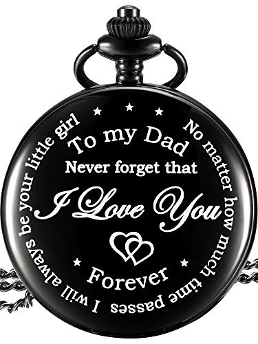 Dad Gift from Daughter to Father Engraved Pocket Watch - No Matter How Much Time Passes, I Will Always Be Your Little… 1