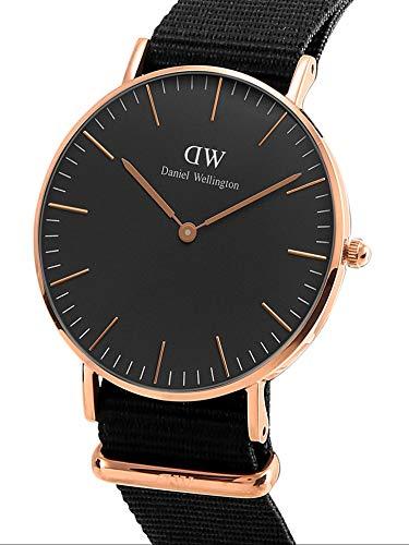Daniel Wellington Classic Cornwall, Black/Rose Gold Watch, 36mm, NATO, for Women and Men 4