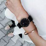 Daniel Wellington Classic Cornwall, Black/Rose Gold Watch, 36mm, NATO, for Women and Men 19