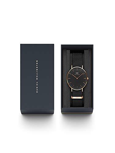 Daniel Wellington Classic Cornwall, Black/Rose Gold Watch, 36mm, NATO, for Women and Men 7