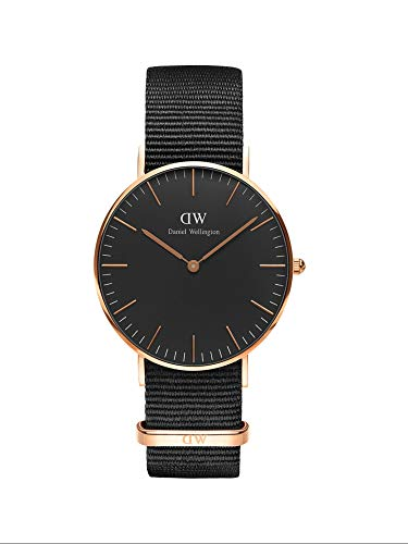Daniel Wellington Classic Cornwall, Black/Rose Gold Watch, 36mm, NATO, for Women and Men 1