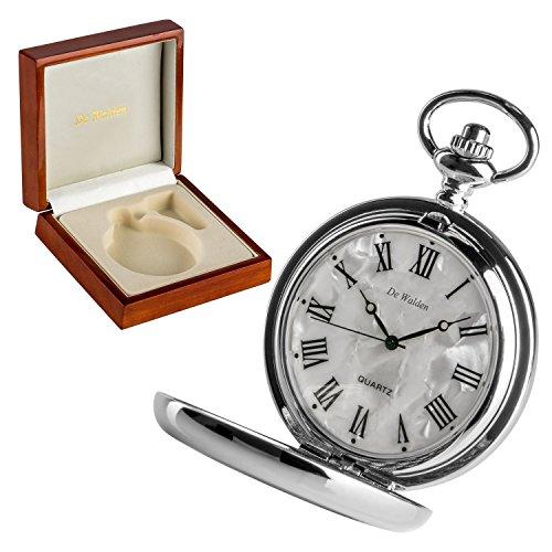De Walden Godson Baptism Gift Engraved St Christopher Pocket Watch Wood Box MP 1