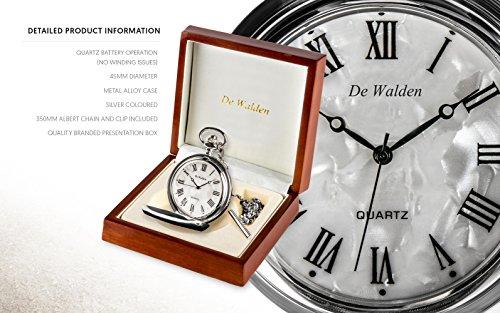 De Walden Godson Baptism Gift Engraved St Christopher Pocket Watch Wood Box MP 8