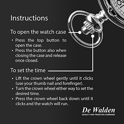De Walden Godson Baptism Gift Engraved St Christopher Pocket Watch Wood Box MP 3