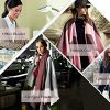 DiaryLook Ladies Printed Poncho Cape Reversible Oversized Shawl Wrap Open Front Cardigans for Women 11