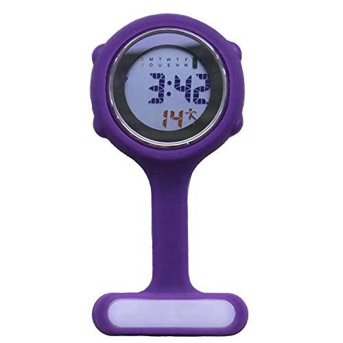Digital Nurse Watch Fob for Women Men Multi Function, Infection Control Design, Silicone Nurses/Brooch/Tunic/Fob/Pocket… 1