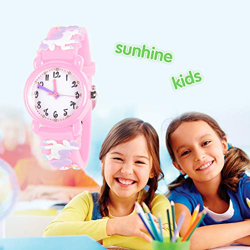 Unicorn Gifts for 3-12 Year Old Girls Kids, Watch Toys for Girl Age 5-12 Birthday Present for Kids 4