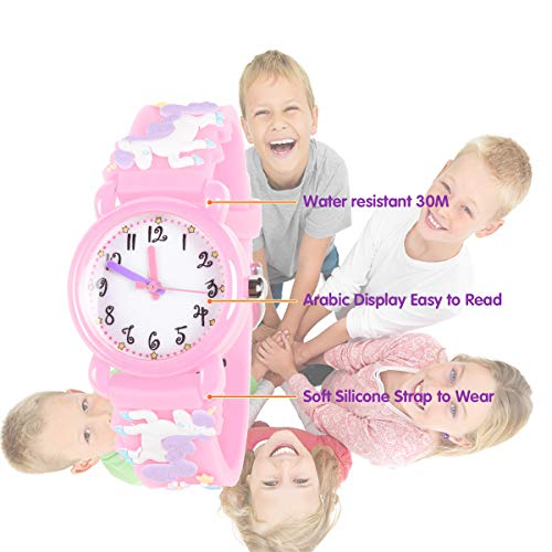 Unicorn Gifts for 3-12 Year Old Girls Kids, Watch Toys for Girl Age 5-12 Birthday Present for Kids 6