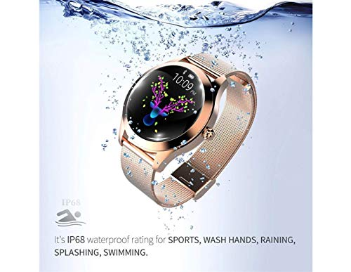 Round IP68 Waterproof Touchscreen Smart Watch for Women, Smart Watch KW10, Fitness Tracker with Heart Rate and Sleep… 4
