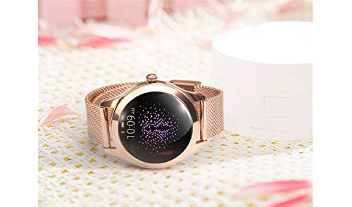 Round IP68 Waterproof Touchscreen Smart Watch for Women, Smart Watch KW10, Fitness Tracker with Heart Rate and Sleep… 5