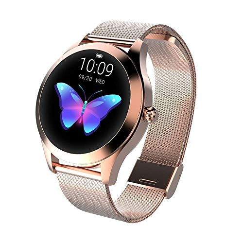 Dray Smartwatch KW10, Round Ip68 Waterproof Touchscreen, Fitness Tracker with Heart Rate and Sleep Pedometer Bracelet… 1