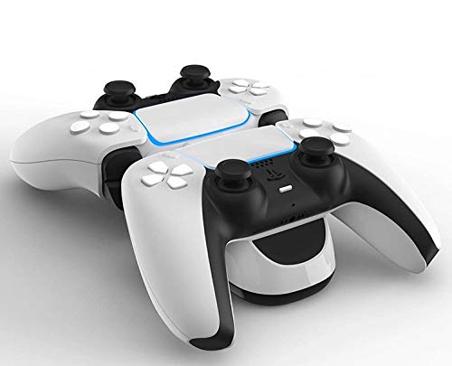Dual Charging High Speed USB-C Controller Twin Charger Docking Station for PS5 DualSense Controllers - White 1