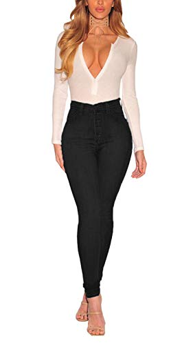 ECUPPER Women's Skinny Fit Jeans Stretch High Waisted Denim Jeggings with Pockets 3
