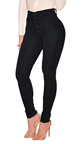 ECUPPER Women's Skinny Fit Jeans Stretch High Waisted Denim Jeggings with Pockets 1