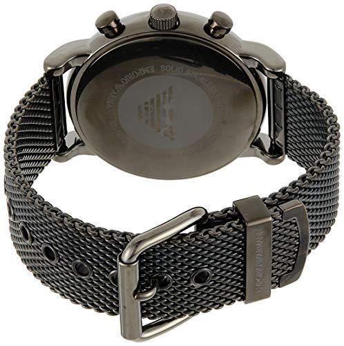 Emporio Armani Men's Chronograph Quartz Watch with Stainless Steel Mesh Strap AR1979 3